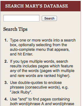 search sidebar