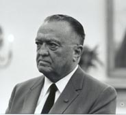 FBI Director J. Edgar Hoover, 24 Jul 1967. The FBI took over the JFK assassination case from the Dallas Police on the evening of November 22.