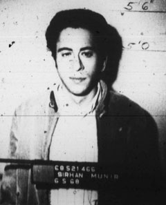 LAPD mugshot of Munir Sirhan