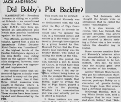 Jack Anderson, Did Bobby's Plot Backfire?