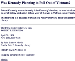 Third Oral History Interview with Robert F. Kennedy