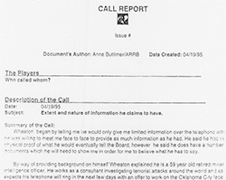 ARRB Call Report of Anne Buttimer to Wheaton