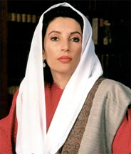 Benazir Bhutto, former Prime Minister of Pakistan.