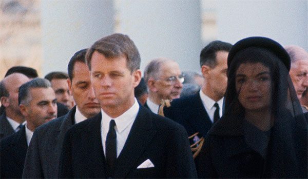 Robert and Jacqueline Kennedy at JFK's funderal