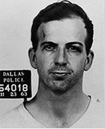 Dallas arrest photo of Lee Harvey Oswald.