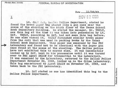 Alternate 11/30/63 FBI report discovered in National Archives