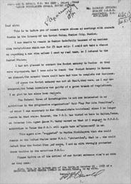 The 'Kostin' letter