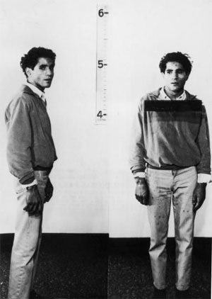 Mug shots of Sirhan Sirhan