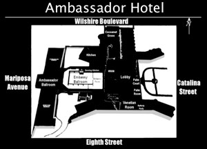 Layout of Ambassador Hotel