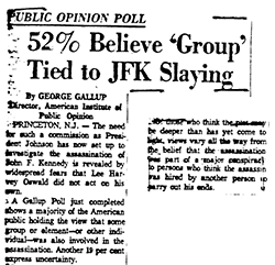 Gallup poll taken within days of the assassination