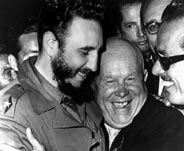 Cuban President Fidel Castro with Nikita Khrushchev, Premiere of the Soviet Union.