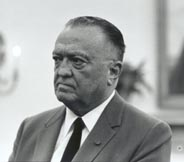 egendary FBI Director J. Edgar Hoover, whose agency assumed primary responsibility for the investigation of President Kennedy's murder, 24 Jul 1967.