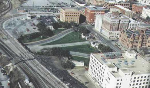 Aerial view of Dealey Plaza